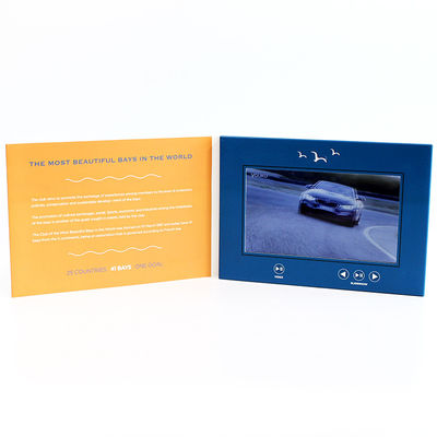 6 Movie - Sterowanie kartą wideo LCD, Gold Stamping Video Greeting Card For Business