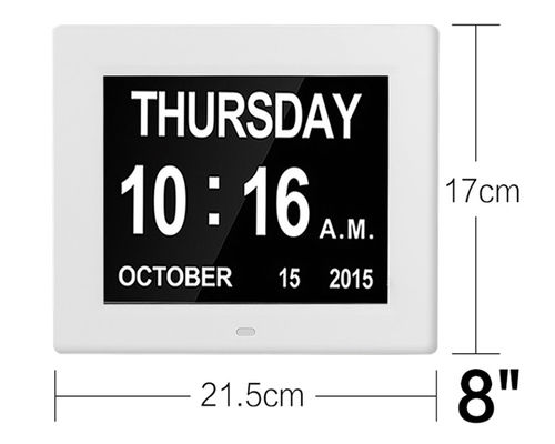 Chiny 8 Inch IPS 1024x768 Digita Calendar Day Clock Extra Large Impaired Vision dostawca